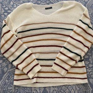 Shein v-neck striped sweater